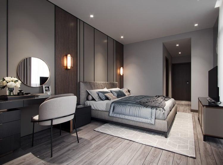 thiết kế chung cư 90m2 2 phòng ngủ