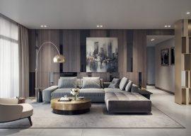 thiết kế căn hộ 90m2 2 phòng ngủ