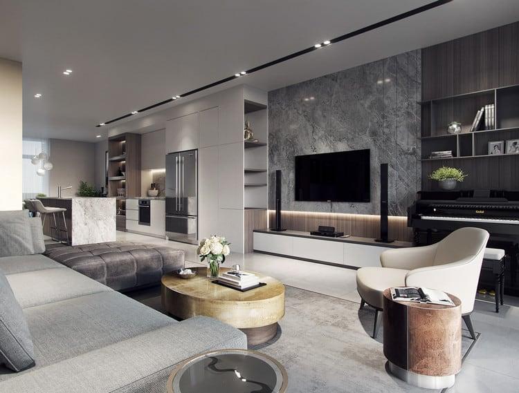 thiết kế căn hộ chung cư 90m2 2 phòng ngủ