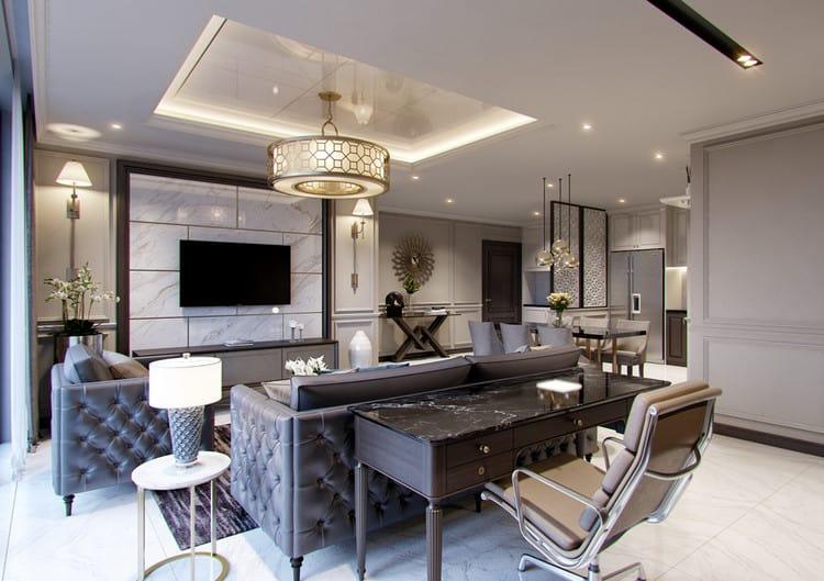 Thiết kế nội thất chung cư 90m2 sang trọng