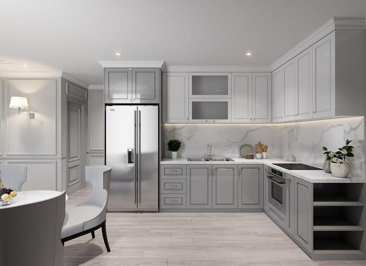 Thiết kế nội thất căn hộ chung cư 90m2 sang trọng