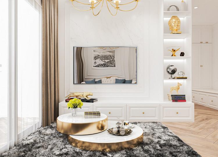 Nội thất căn hộ cao cấp phong cách tân cổ điển