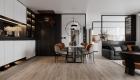 Thiết kế chung cư đẹp 1 phòng ngủ - khu vực bàn ăn