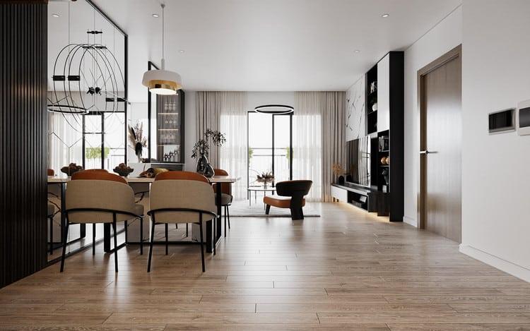 Thiết kế chung cư đẹp 1 phòng ngủ
