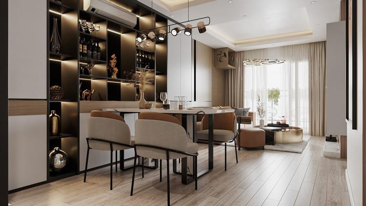 Lên phương án chất liệu nội thất bạn muốn sử dụng cho căn hộ bạn muô