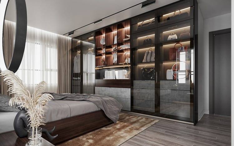 Nội thất căn hộ cao cấp - phòng ngủ Master