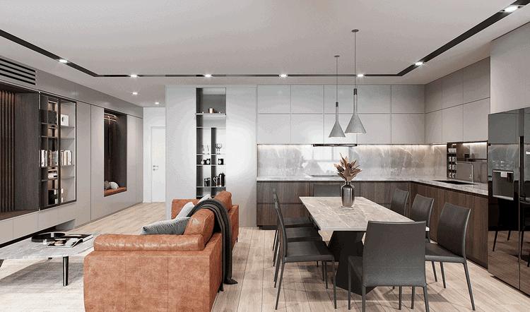 Thiết kế nội thất căn hộ - phòng bếp
