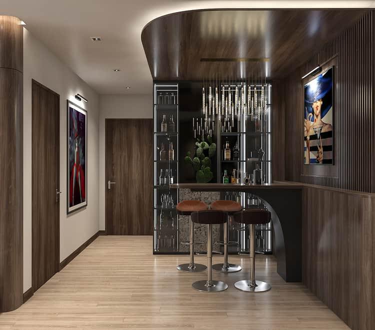 Thiết kế nội thất chung cư 2 phòng ngủ hiện đại