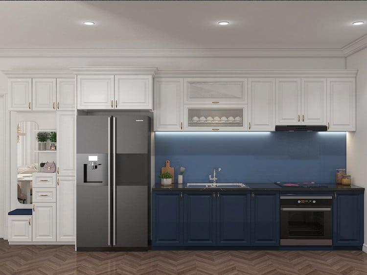 Bếp chung cư đẹp phong cách tân cổ điển