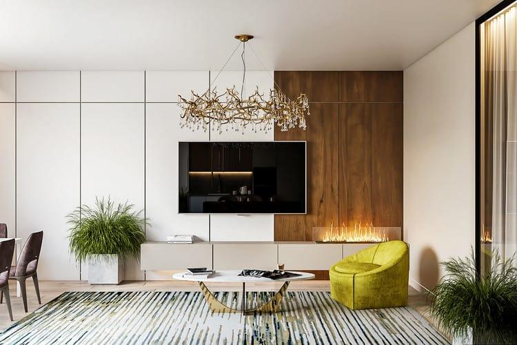 nội thất phòng khách chung cư sang trọng