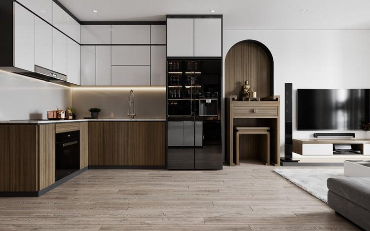 Nội thất bếp căn hộ hiện đại