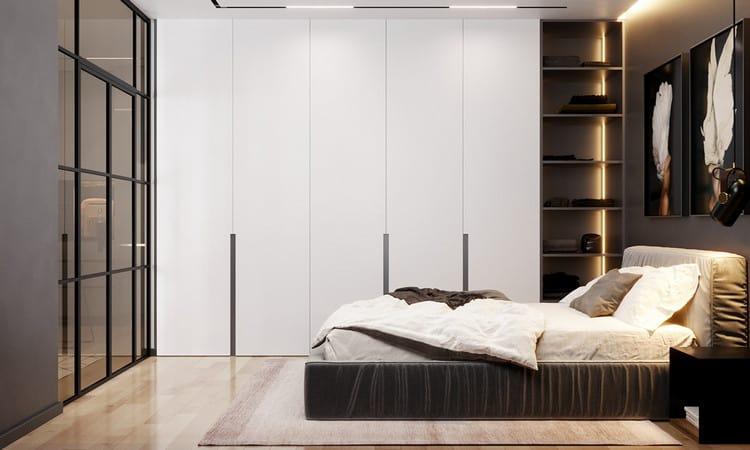 Thiết kế nội thất phòng ngủ Master cho căn hộ