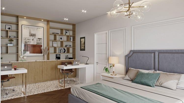 Phòng làm việc kết hợp phòng ngủ