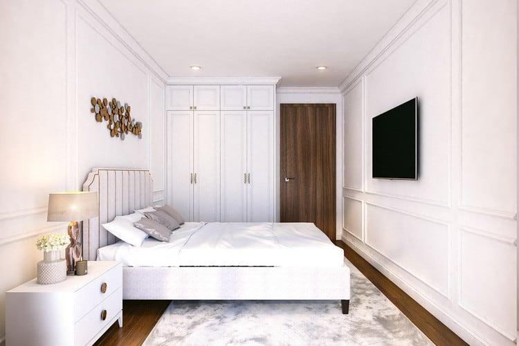 Mẫu căn hộ tân cổ điển đẹp - phòng ngủ 2