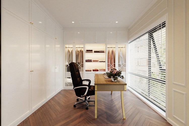 Phòng thay đồ kết hợp không gian làm việc