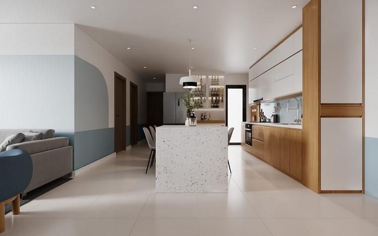 Thiết kế nội thất chung cư tối giản - phòng bếp