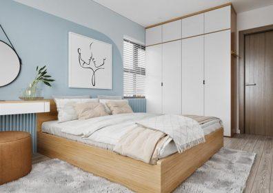 Thiết kế nội thất chung cư tối giản - phòng ngủ Master