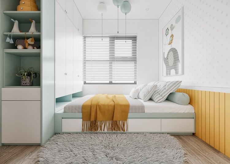 Thiết kế nội thất chung cư tối giản - phòng ngủ cho bé