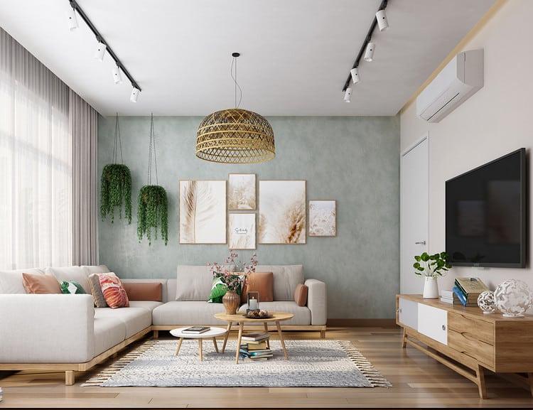 Thiết kế phòng khách căn hộ ấn tượng