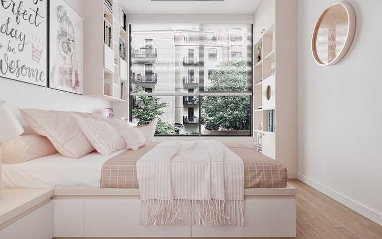 Phòng ngủ bé gái căn hộ 3 phòng ngủ