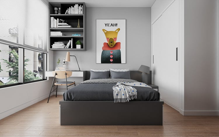 Phòng ngủ bé trai - căn hộ 3 phòng ngủ