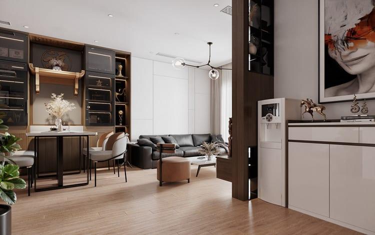 Mẫu chung cư đẹp 3 phòng ngủ - phòng khách