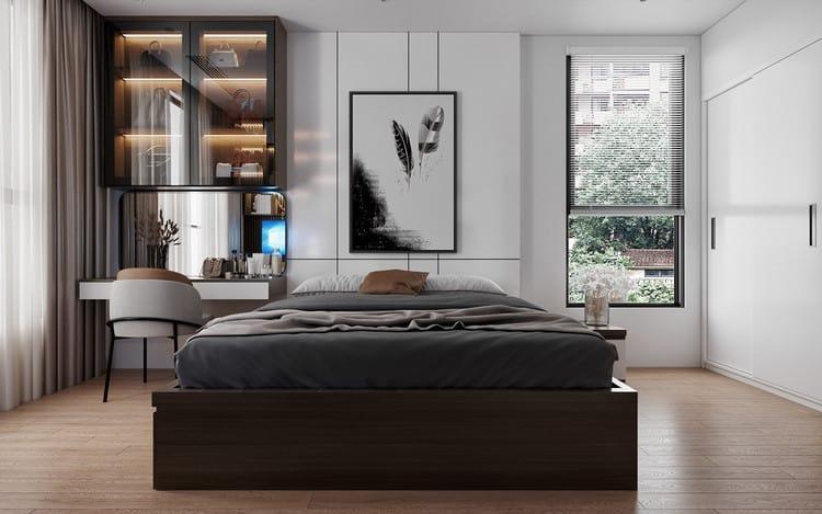 Mẫu chung cư đẹp 3 phòng ngủ - Phòng ngủ Master