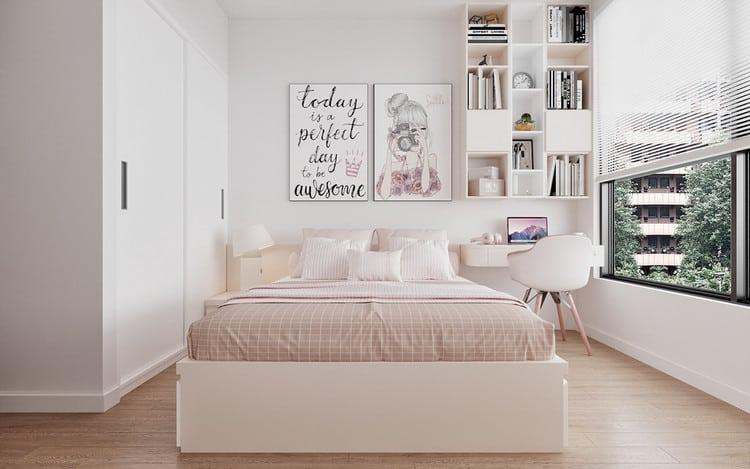 Mẫu phòng ngủ bé gái - căn hộ 3 phòng ngủ