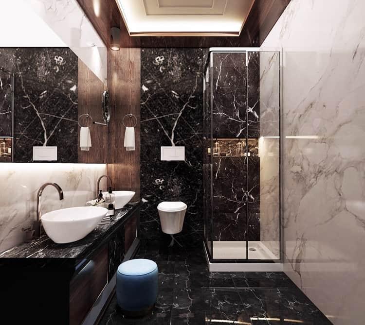 đá ốp phòng tắm biệt thự