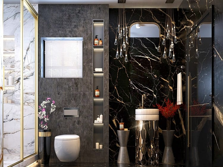 đồ dùng trang trí nội thất phòng tắm biệt thự