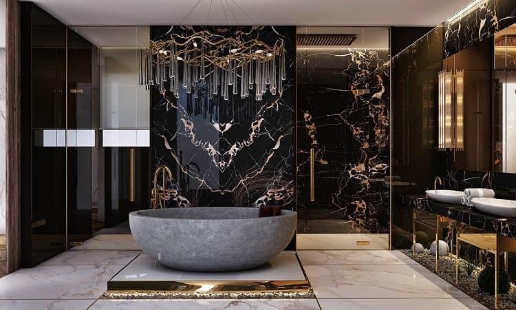 Phòng tắm chính đẹp cho biệt thự