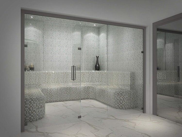 phòng tắm xông hơi trong biệt thự