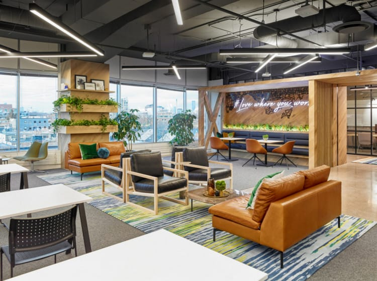 Thiết kế pantry văn phòng xanh