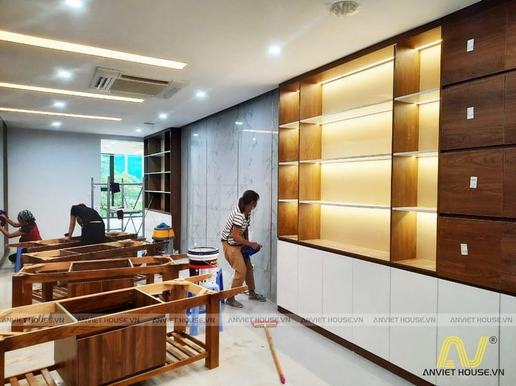 Anviethouse thiết kế thi công nội thất chuỗi siêu thị mỹ phẩm kết hợp spa làm đẹp