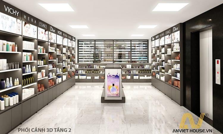 Thiết kế showroom mỹ phẩm Daysaki