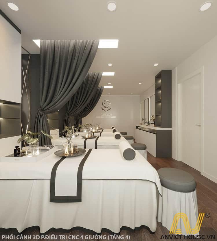 Anviethouse thiết kế showroom mỹ phẩm daysaki kết hợp spa