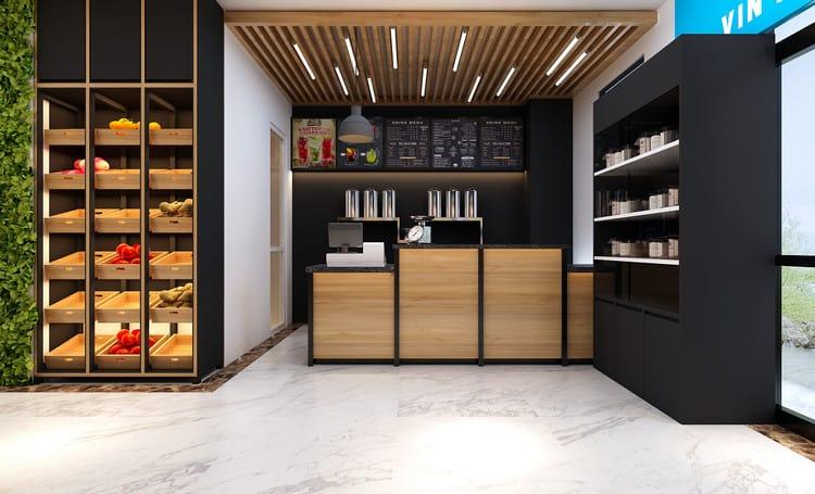 Thiết kế cửa hàng trái cây