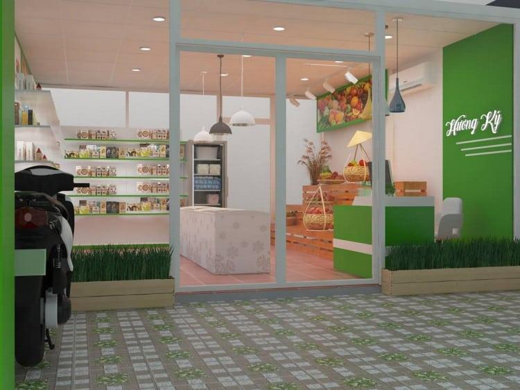 Mẫu thiết kế cửa hàng thực phẩm sạch