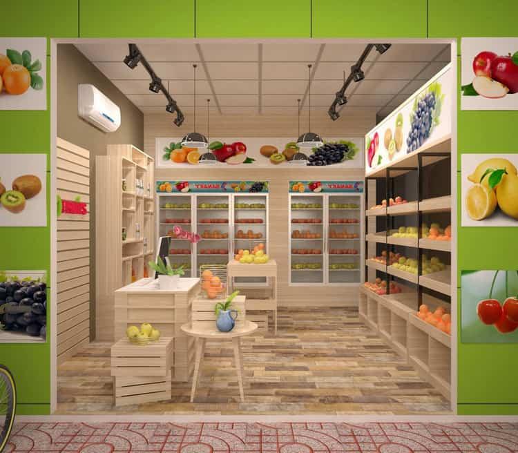 Thiết kế cửa hàng trái cây khoa học