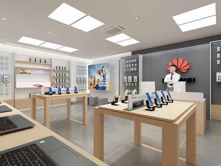 Thiết kế shop điện thoại diện tích rộng