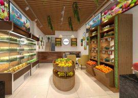 Mẫu cửa hàng hoa quả đẹp