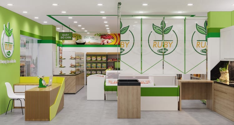 Mẫu thiết kế cửa hàng trái cây đẹp