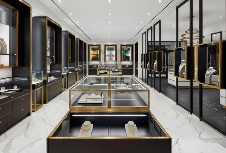 Mẫu thiết kế cửa hàng trang sức hiện đại