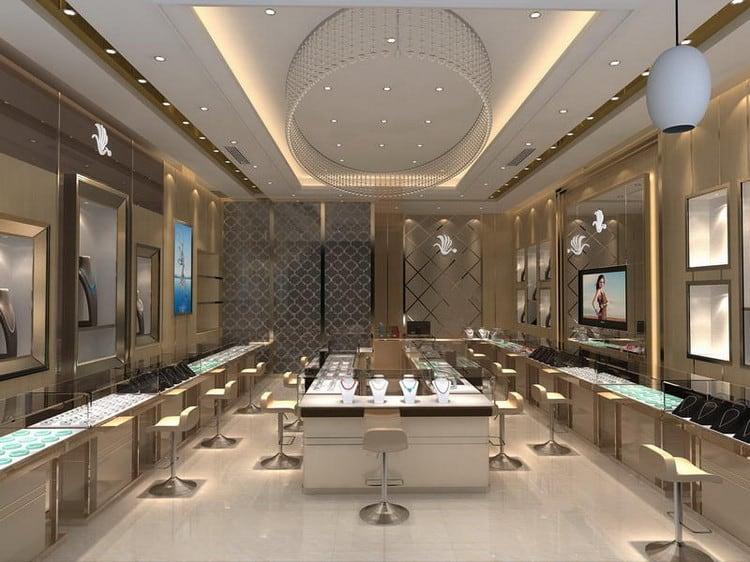 Mẫu cửa hàng vàng bạc đẹp