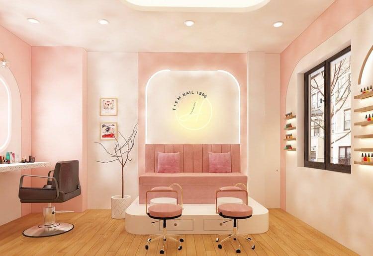 Thiết kế tiệm nail spa phong cách hiện đại
