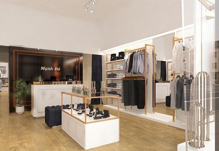 Thiết kế cửa hàng quần áo nam hiện đại