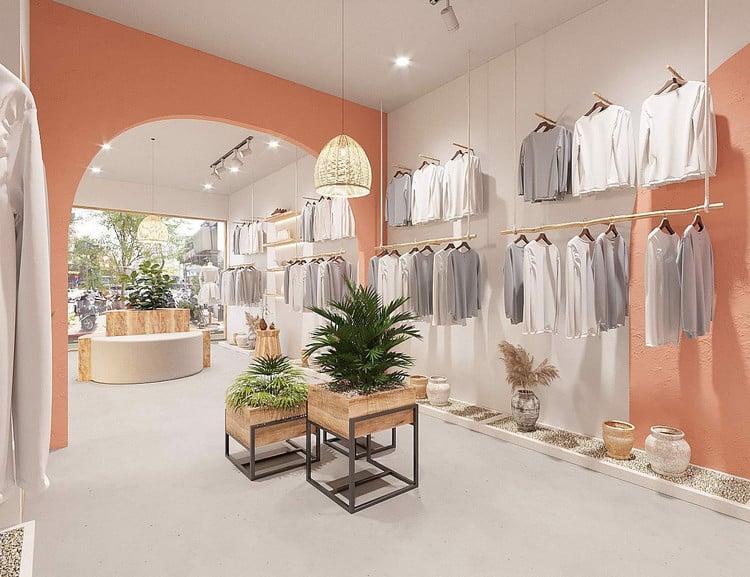 mẫu thiết kế shop quần áo
