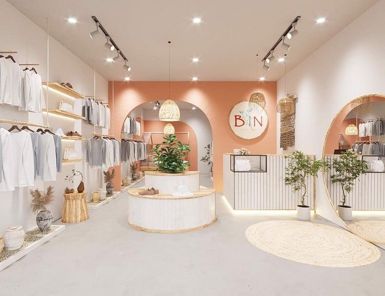 mẫu thiết kế cửa hàng quần áo