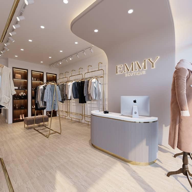 Thiết kế nội thất shop quần áo nữ đẹp