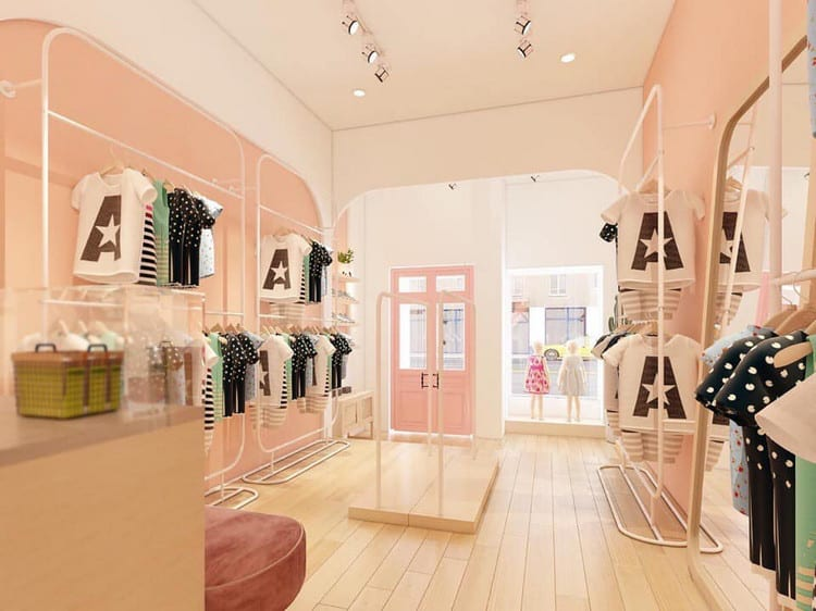 Mẫu thiết kế shop thời trang đẹp, đơn giản